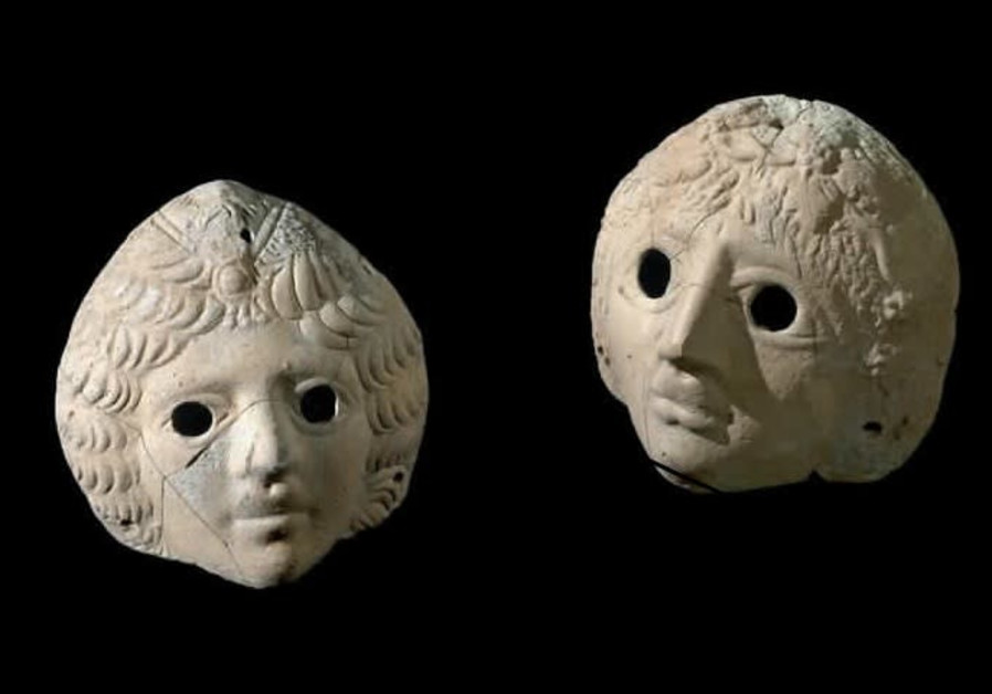 Masks of Dionysus and Ariadne uncovered at the Castra site.