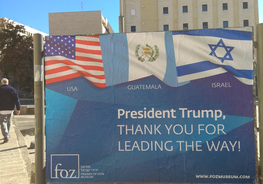 Friends of Zion thank Guatemala and United States for their embassy move.