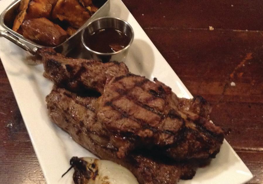 Steak at Jerusalem's Red Heifer