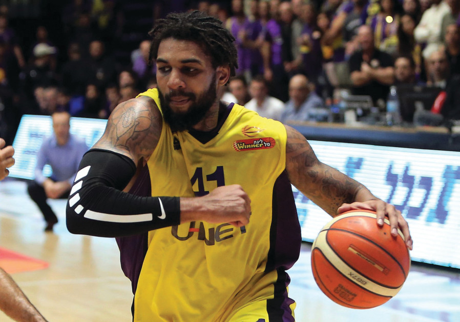 Hapoel Holon forward Glen Rice Jr.