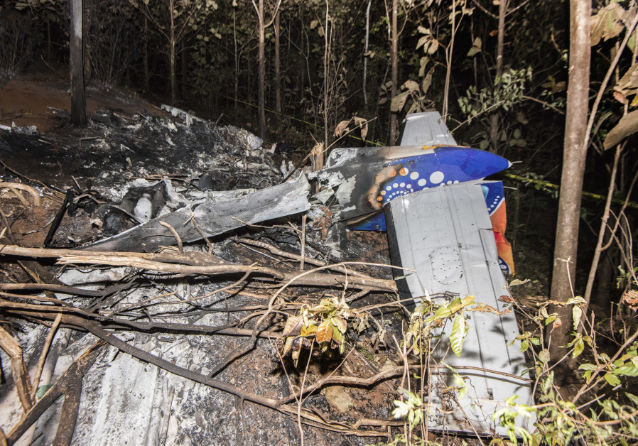 Wreckage from the small plane crash in Costa Rica on December 31, 2917