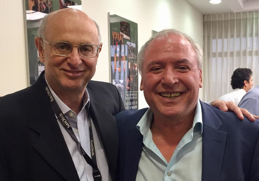 Former American Friends of Likud president Dr. Julio Messer with coalition chairman David Amsalem