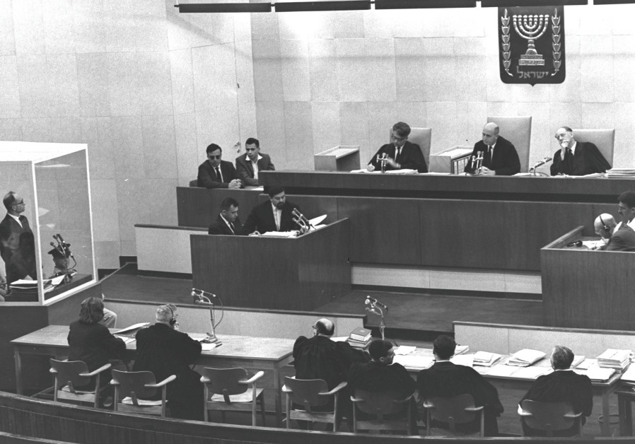 SUPREME COURT judges deliberate in the courthouse at Jerusalem's Beit Ha'am before delivering their