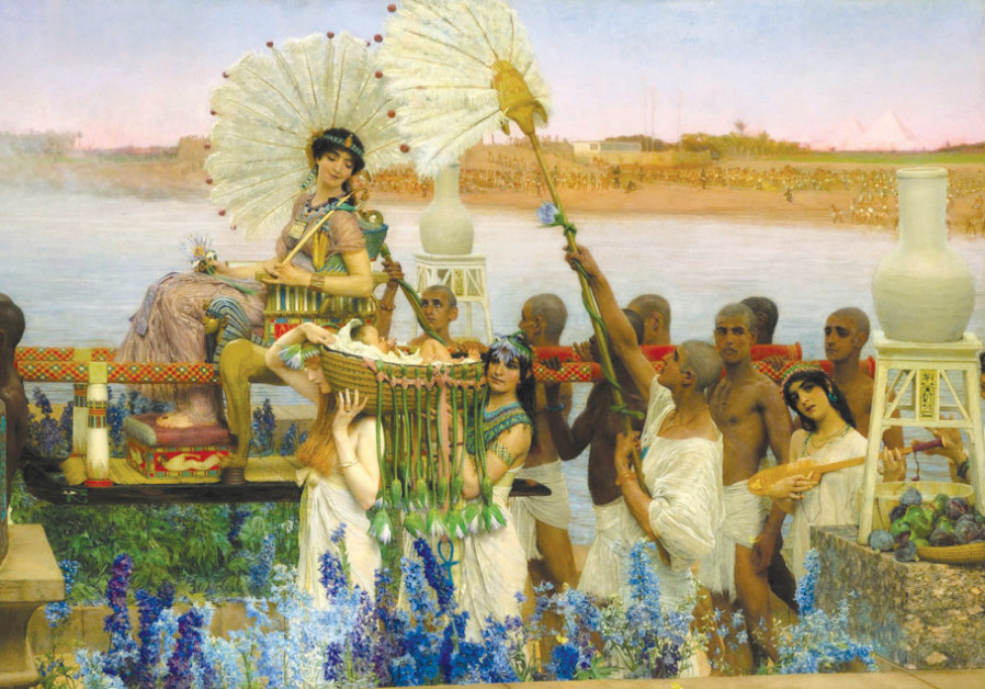 'THE FINDING of Moses' (1904) by Dutch painter Lawrence Alma-Tadema