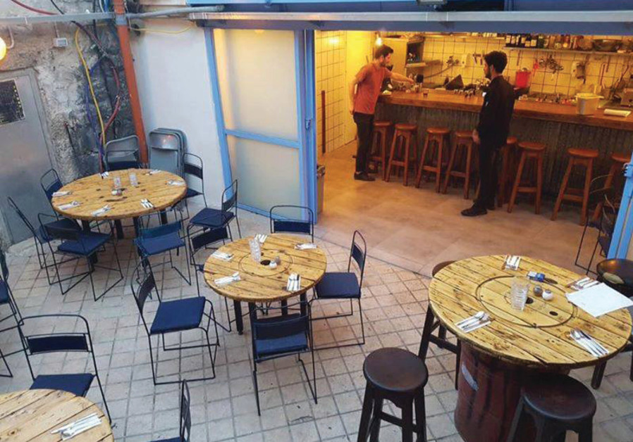 Pergamon, which offers a  ne-dining vegetarian menu, is attached to a nightclub