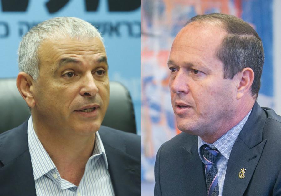 Finance Minister Moshe Kahlon and Mayor Nir Barkat