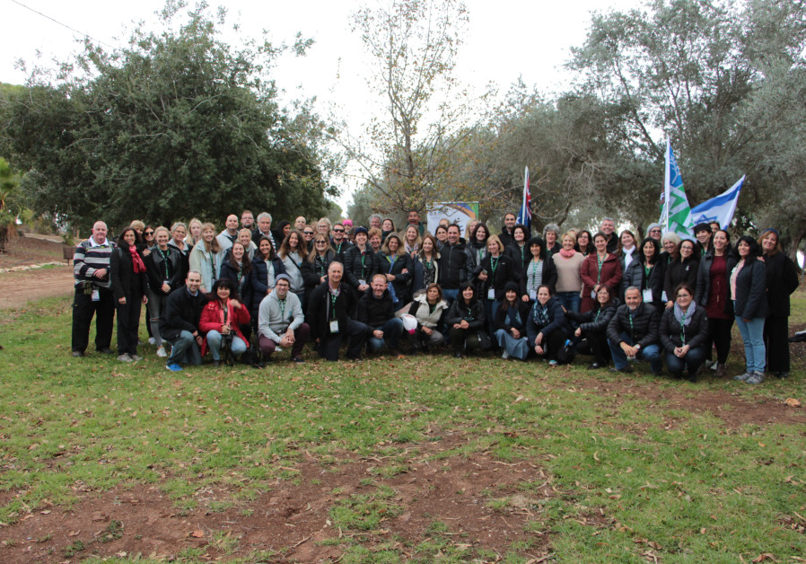 Australian Educators' Mission group photo at the Lavi Forest Planting Center.