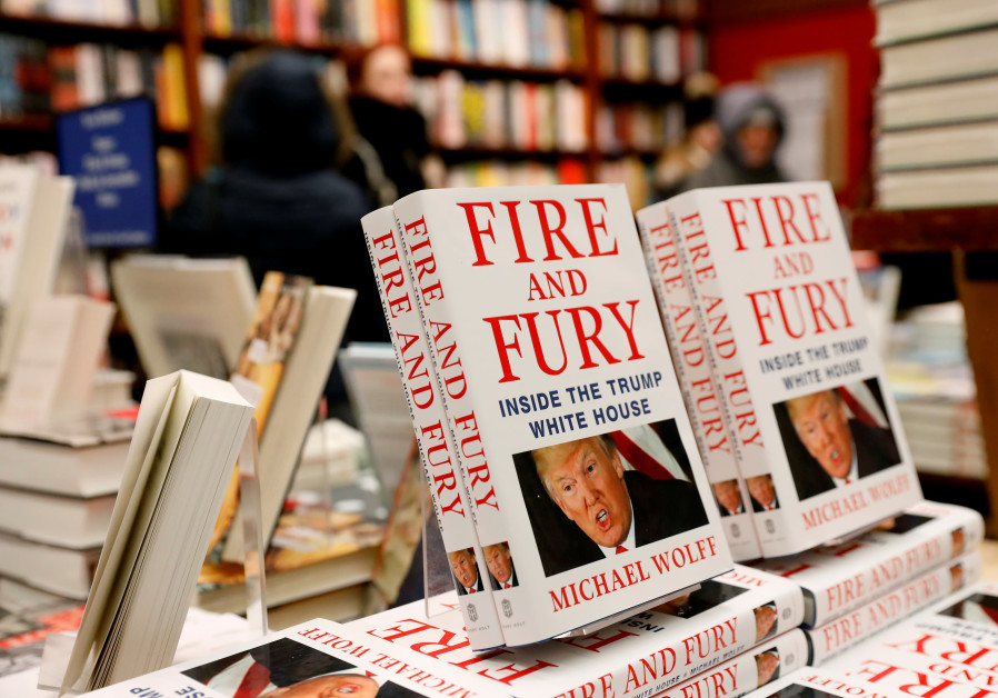 Copies of the book 'Fire and Fury: Inside the Trump White House' by author Michael Wolff are seen at