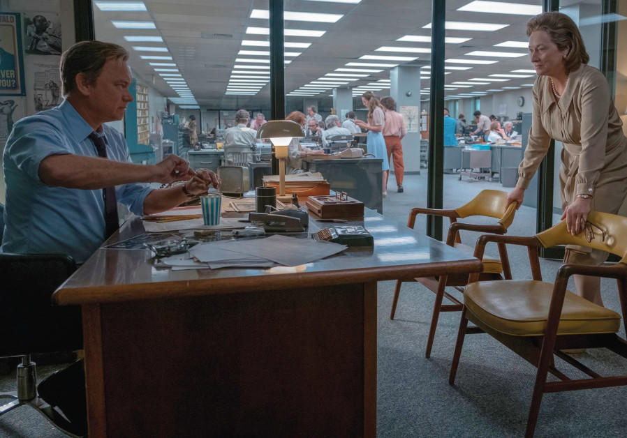 'THE POST' stars Meryl Streep as 'Washington Post' publisher Kay Graham and Tom Hanks as editor Ben