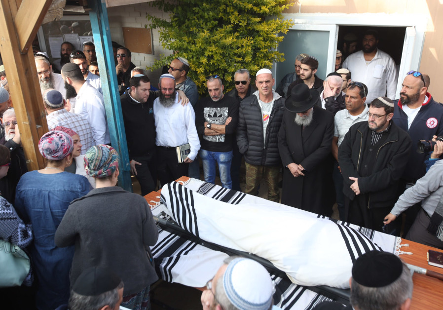 Funeral of Rabbi Raziel Shevach, murdered in West Bank terror attack shooting