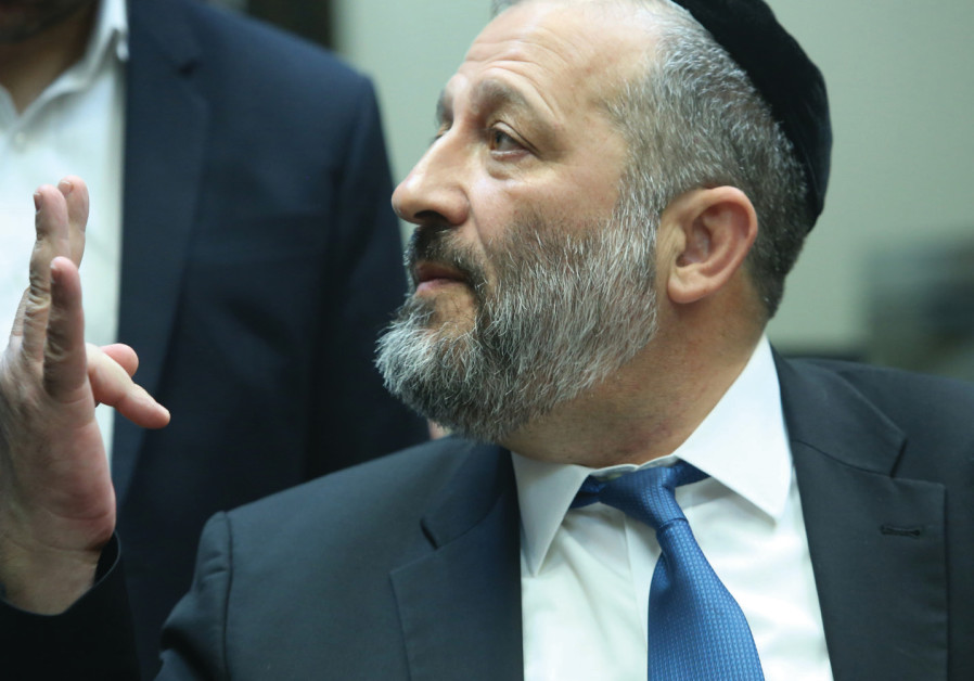 INTERIOR MINISTER Arye Deri at the Knesset