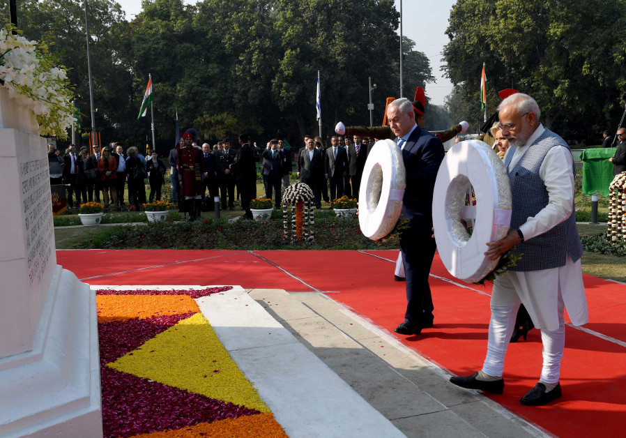 modi india benjamin netanyahu memorial