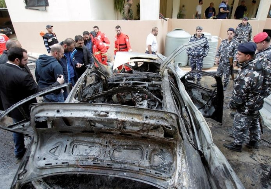 Booby trapped vehicle  explodes in Lebanon's port city of Sidon