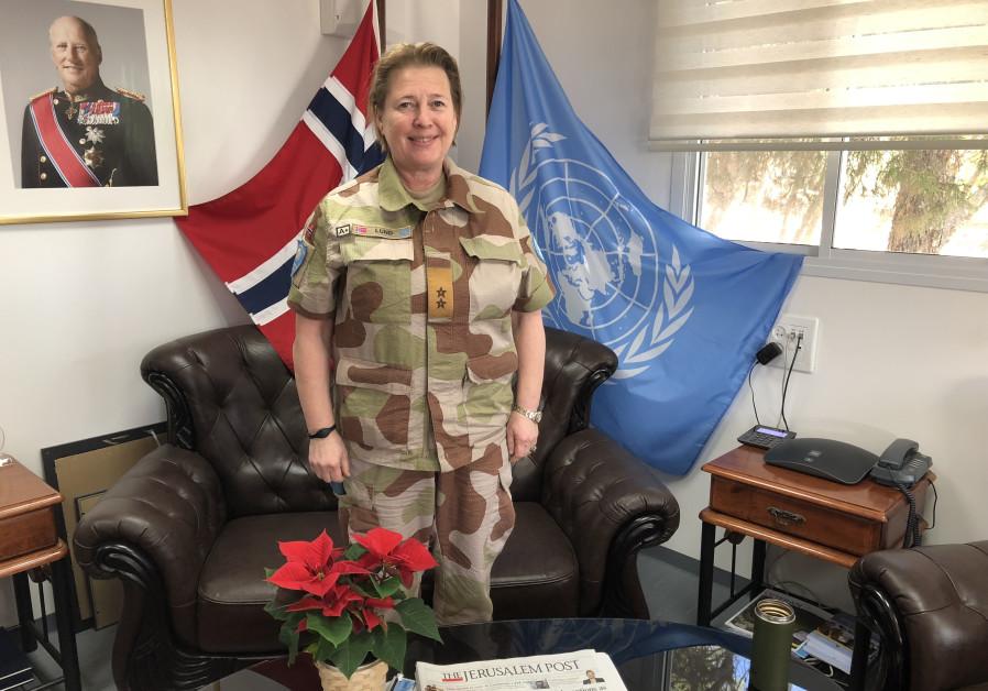 Maj.-Gen. Kristen Lund in the UNTSO offices in Jerusalem.