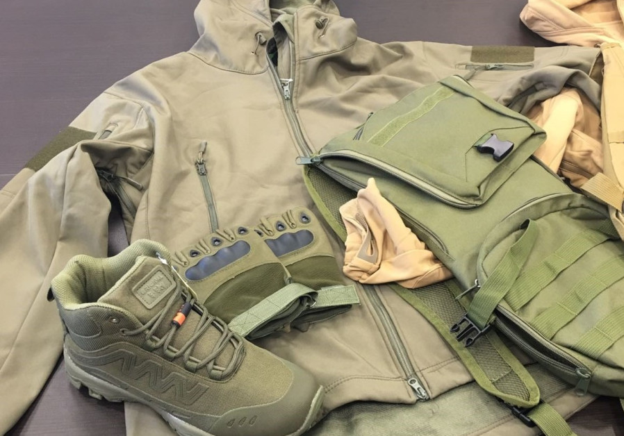 Military-style clothes detected by Israeli custom officials en-route to Gaza