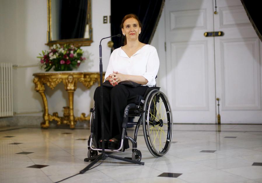 Argentina's Vice President Gabriela Michetti in Chile.