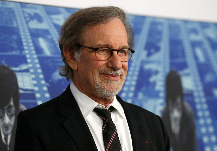Director Steven Spielberg poses at the premiere of the HBO documentary film 'Spielberg' in Los Angel