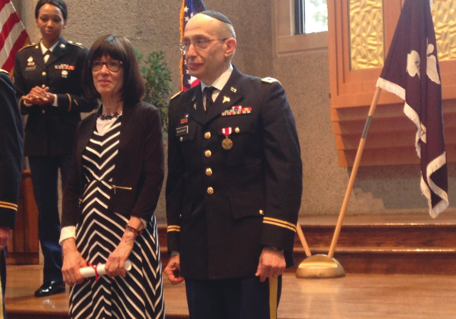 Stephen November with wife Nancy at his US army graduation – after joining at age 53