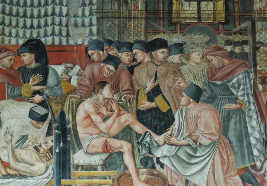 'The Hospital of Santa Maria della Scala,' fresco by Domenico di Bartolo, 1441–2