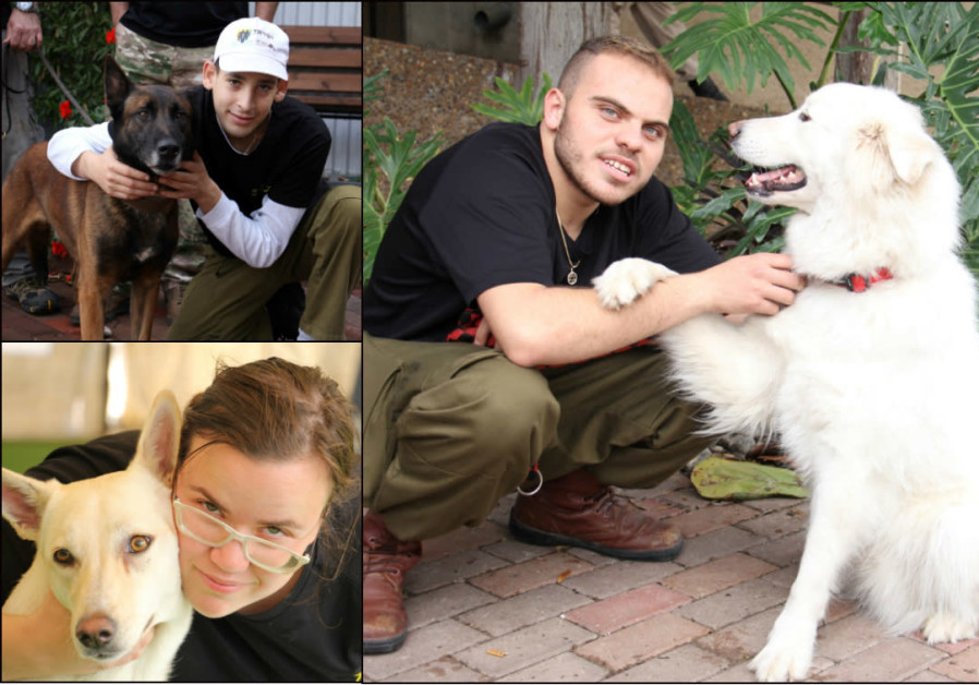 Special needs soldiers and their training dogs