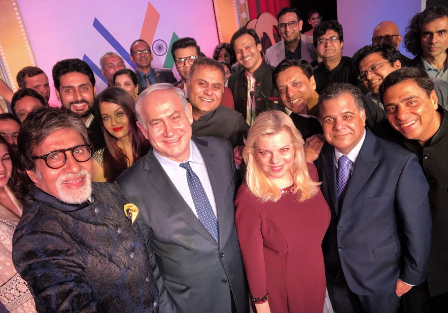 Netanyahu meets Bollywood stars, ends event with Oscars-style selfie