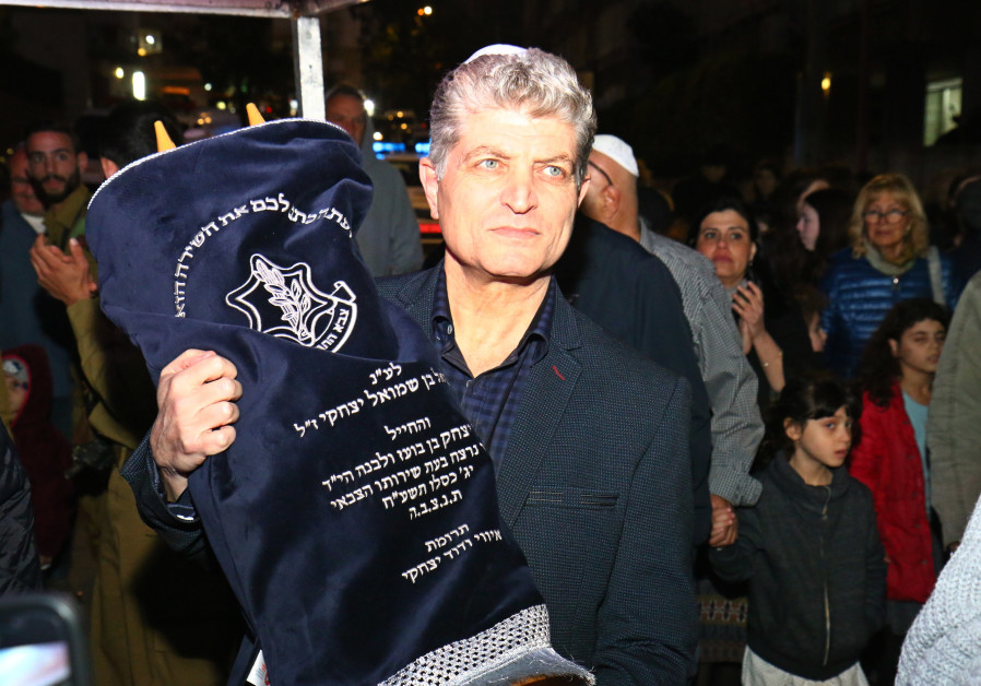 Torah scroll donated in honor of St.Sgt. Ron Kokia