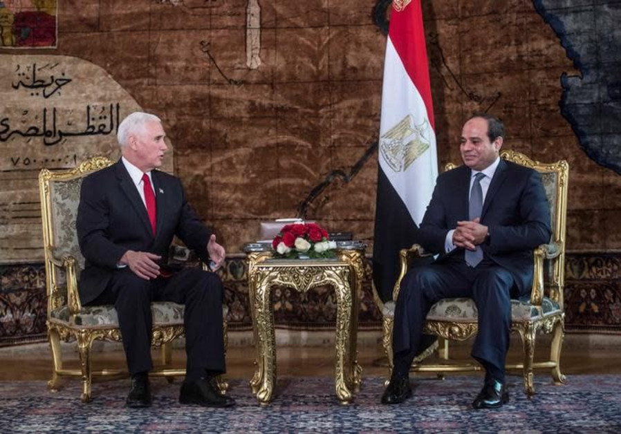 Trump 'firmly committed' to restarting peace process, Pence says