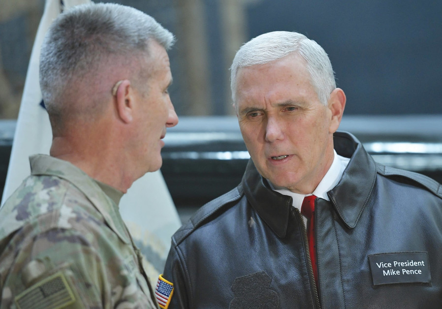 Trump seeks to prevent 'usable' Iranian nuclear bomb, Pence tells troops