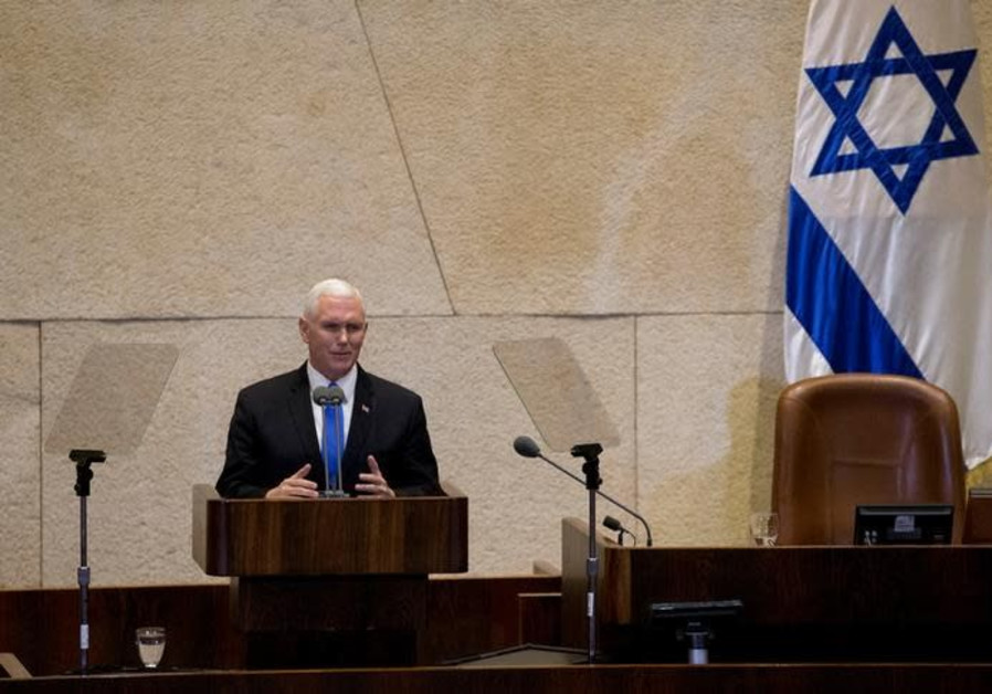 Pence speech rife with biblical references rocks the Knesset