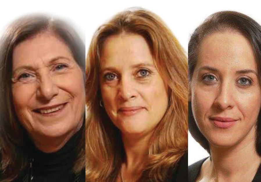 (L-R)  Vera Michlin-Shapir, Dr. Liran Antebi and Dr. Avner Golov(L-R) Sima Shine, Pnina Sharvit Baru