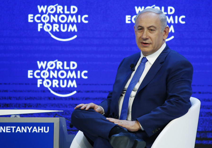 Benjamin Netanyahu Prime Minister of Israel attends a session during the Annual Meeting 2016 of the
