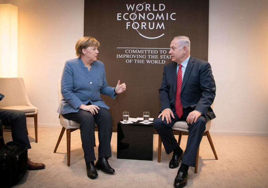 Merkel Vows German Fight against Anti-Semitism on Israel Visit