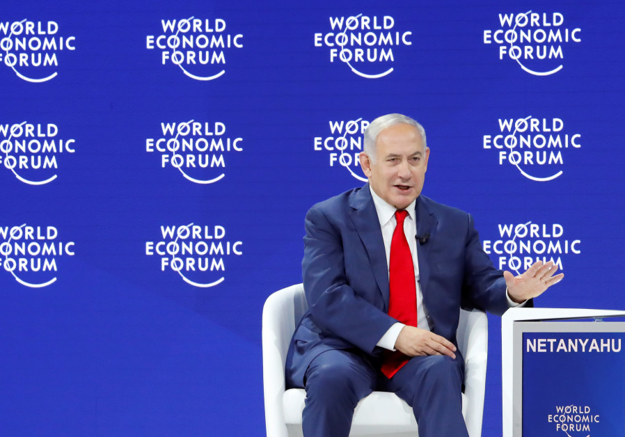 srael's Prime Minister Benjamin Netanyahu gestures as he speaks the World Economic Forum (WEF) annua