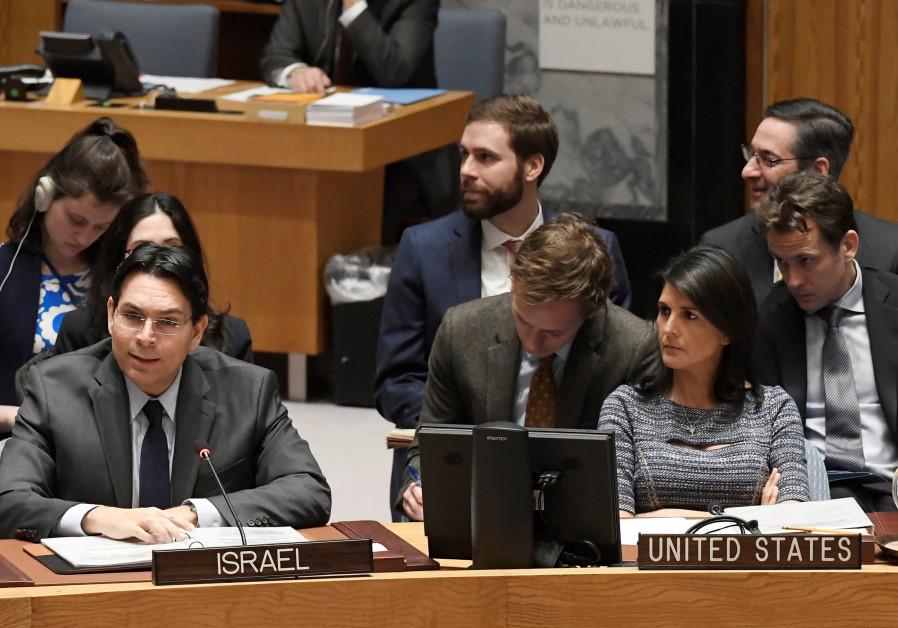 Israel's UN Ambassador Danon slams UN settlements 'blacklist'