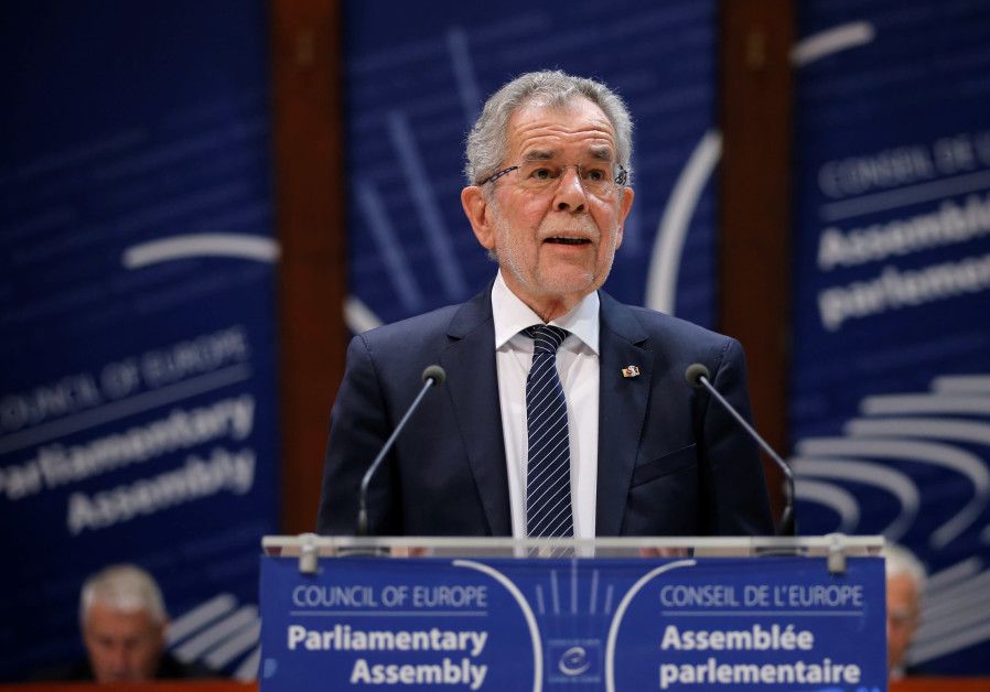 Austrian President Alexander van der Bellen speaks at the Council of Europe, January 2018