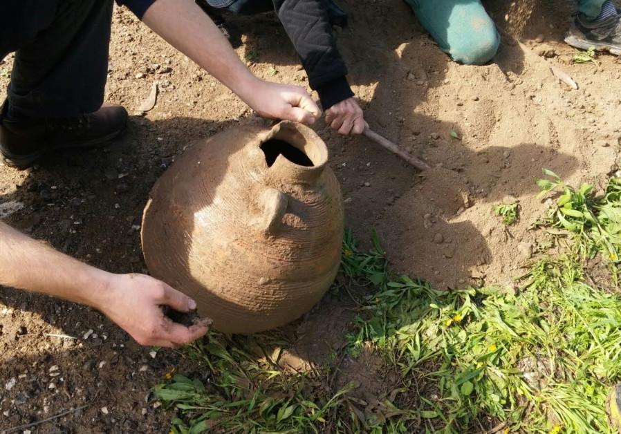 Family discovers 1,500-year-old Byzantine-era jug following rain storm