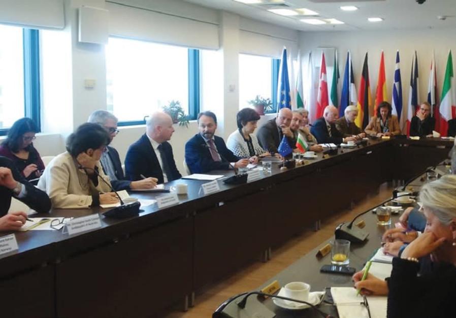US MIDEAST envoy Jason Greenblatt meets with European Union ambassadors in Ramat Gan.