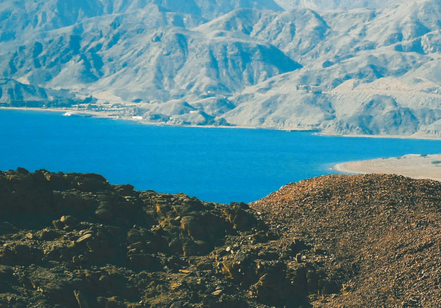 The coast of the Red Sea from southern Eilat.