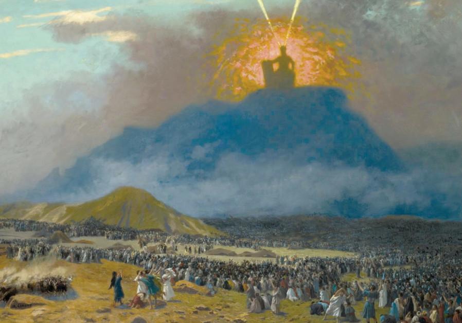 'MOSES ON Mount Sinai' (c. 1895-1900) by French painter Jean-Léon Gérôme.
