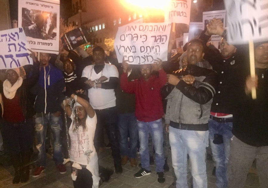 African migrants and Israelis protest deportations in Jerusalem