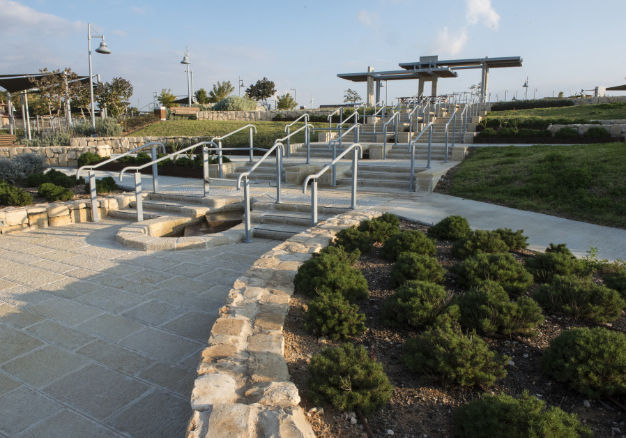 The pergolas, landscaping and accessible pathways at ALEH Negev donated by KKL Belgium