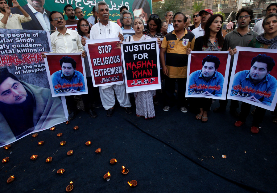 Pakistan convicts dozens over lynching of student accused of blasphemy