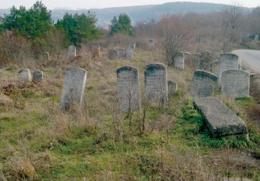 WHAT REMAINS of the Jewish cemetery in Buczacz today