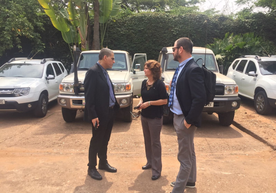 MK Michal Rozin and MK Mossi Raz (Meretz) toward the end of the first day of a visit to the emergency in Rwanda and Uganda. (Michal Rozin's Office)