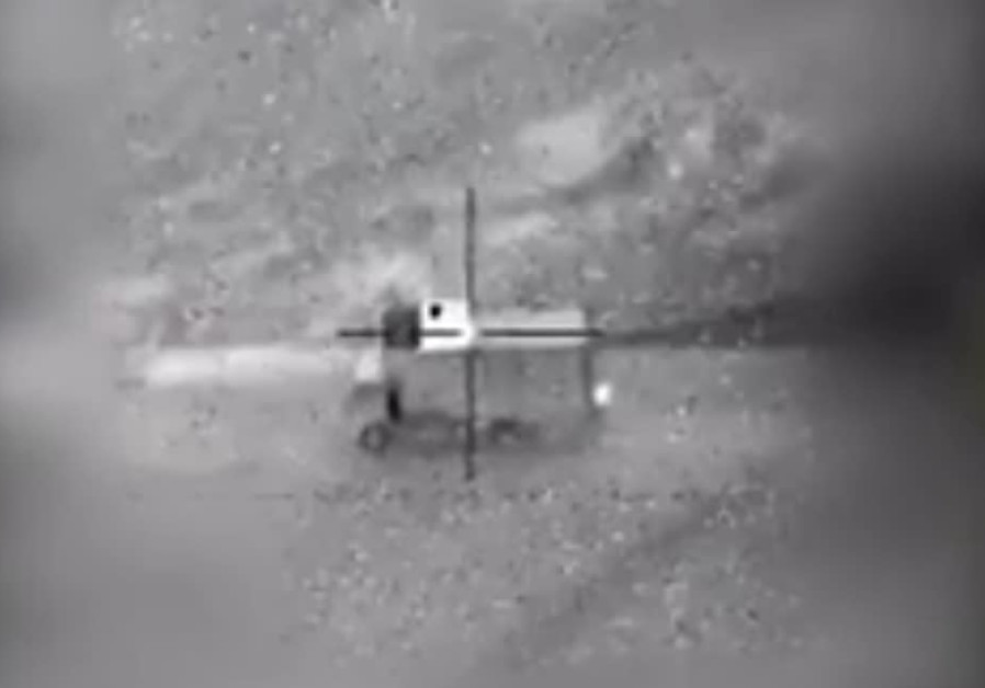 An Israeli jet destroys an Iranian drone operating unit in Syrian territory