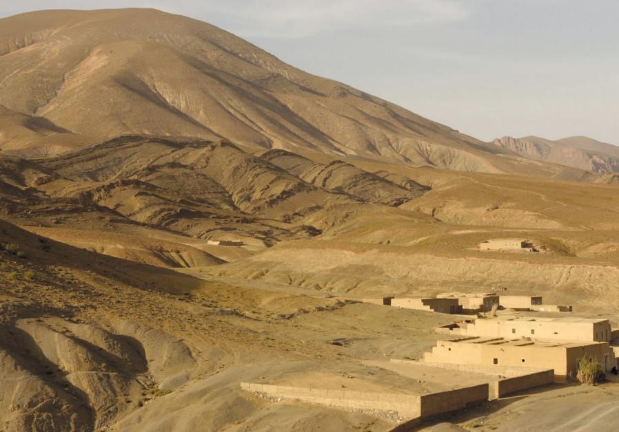A rural Moroccan village in the High Atlas mountains