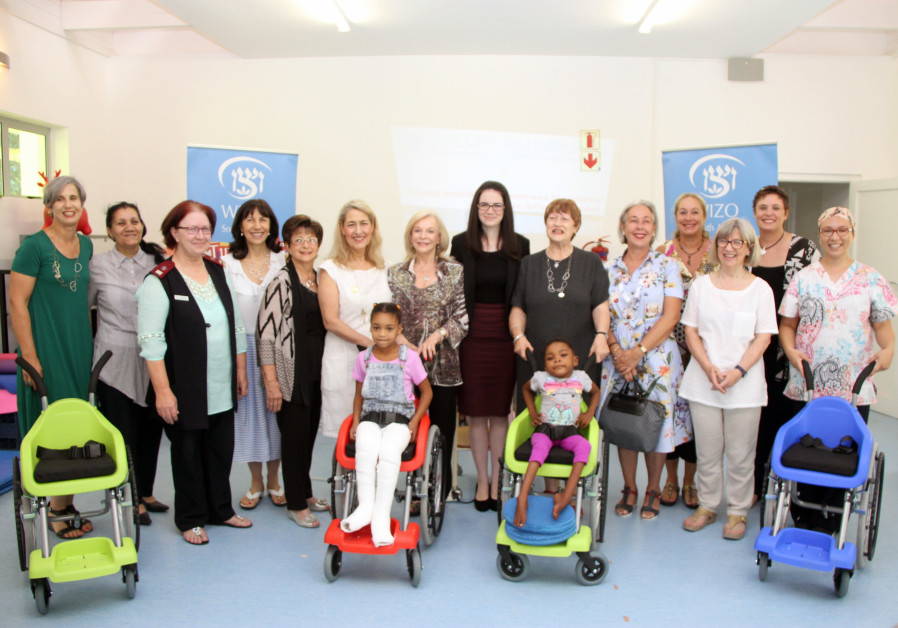 Members of WIZO South Africa, Israeli NGO Wheelchairs of Hope and the Israeli Embassy pose