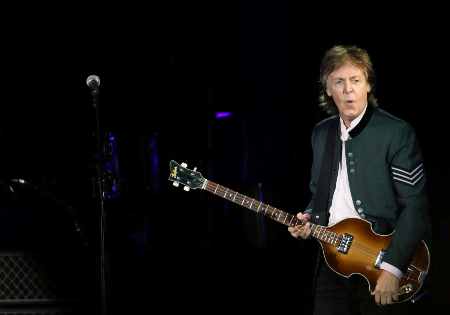 "British musician Paul McCartney performs during the ""One on One"" tour concert in Brazil"