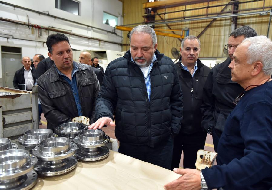 Defense Minister Avigdor Liberman visits Kiryat Shmona, February 13th, 2018.