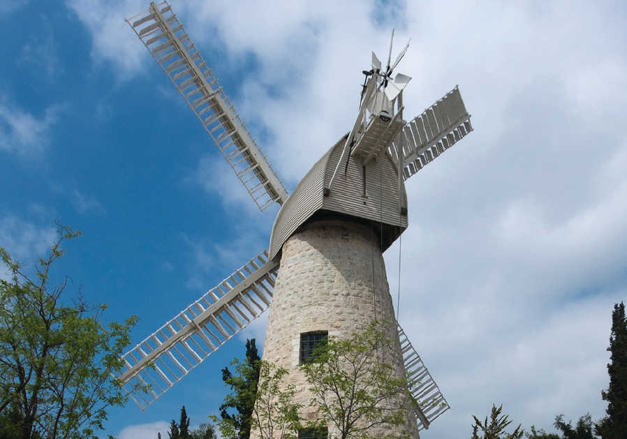 The famous Monte ore Windmill in Yemin Moshe